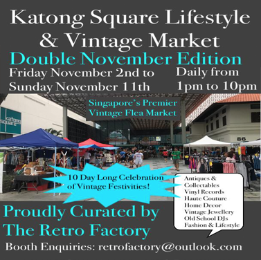 2nd-11th NOV LIFESTYLE & VINTAGE MARKET