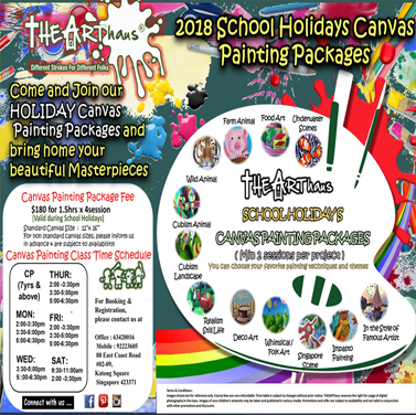 2018 School Holidays Canvas Painting Packages